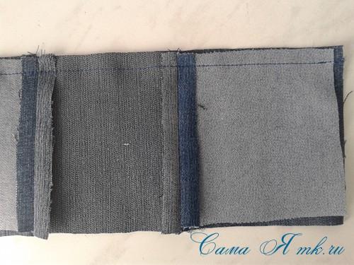 сумка из старых джинс джинсовой ткани схема мастер-класс мк своими руками 8