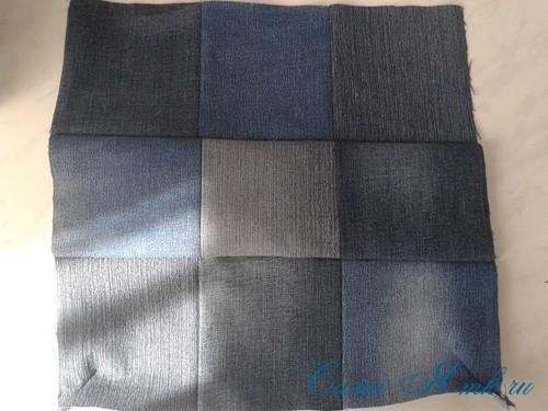 сумка из старых джинс джинсовой ткани схема мастер-класс мк своими руками 9