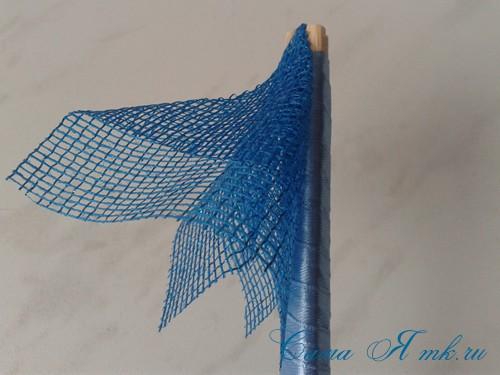 морской топиарий из флористической сетки и ракушек 10