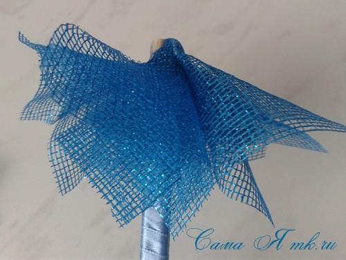 морской топиарий из флористической сетки и ракушек 11