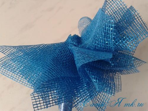 морской топиарий из флористической сетки и ракушек 12