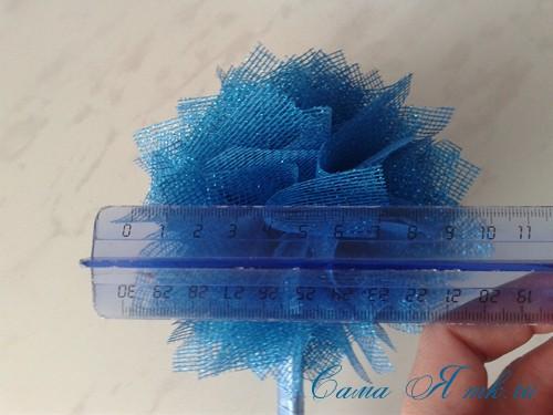 морской топиарий из флористической сетки и ракушек 16