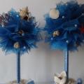морской топиарий из флористической сетки и ракушек 24