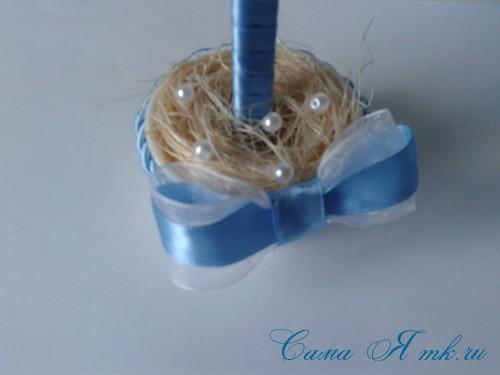 морской топиарий из флористической сетки и ракушек 27