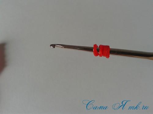 браслет из резинок на рогатке перекаты для начинающих 10