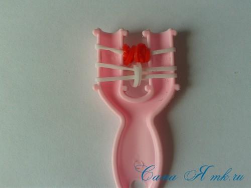 браслет из резинок на рогатке перекаты для начинающих 15