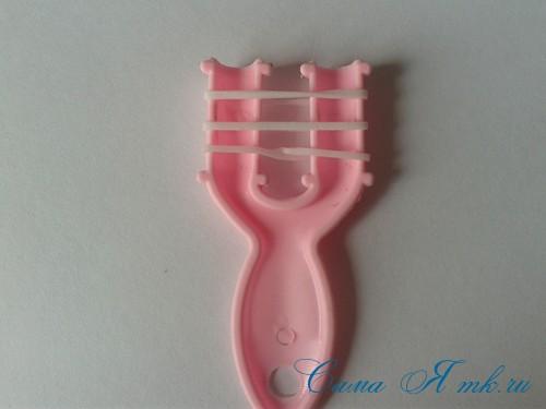 браслет из резинок на рогатке перекаты для начинающих 3