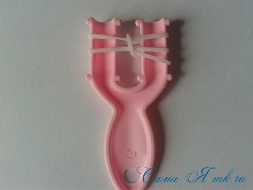 браслет из резинок на рогатке перекаты для начинающих 5