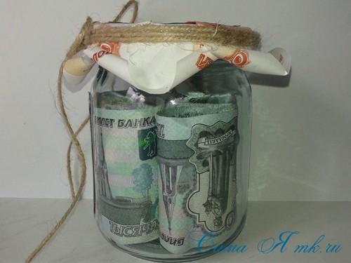 как оригинально подарить деньги на свадьбу денежная банка 14