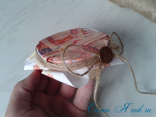 как оригинально подарить деньги на свадьбу денежная банка 7