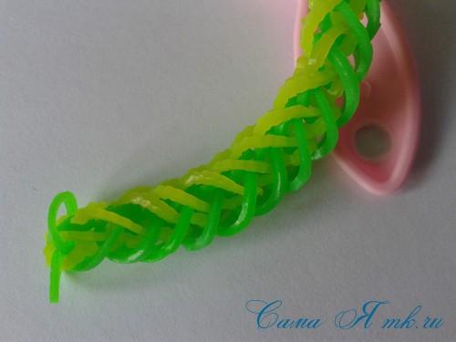 плетение браслета на рогатке французская коса схема мк для начинающих 31