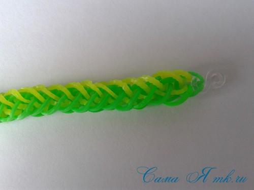 плетение браслета на рогатке французская коса схема мк для начинающих 38