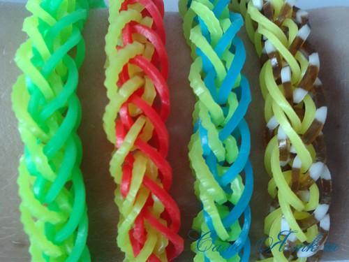 плетение браслета на рогатке французская коса схема мк для начинающих 44