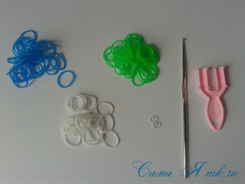 браслет из резинок на рогатке велосипедная цепь плетение для начинающих 1