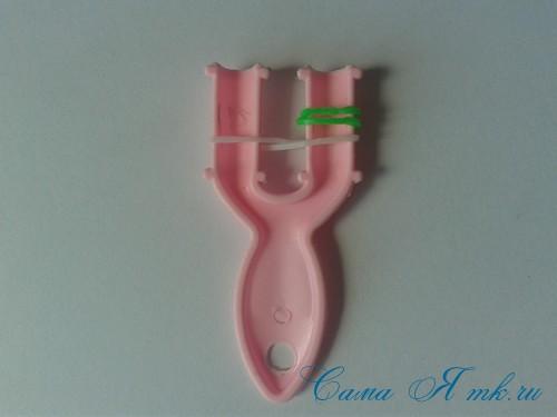 браслет из резинок на рогатке велосипедная цепь плетение для начинающих 3