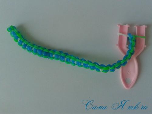 браслет из резинок на рогатке велосипедная цепь плетение для начинающих 63