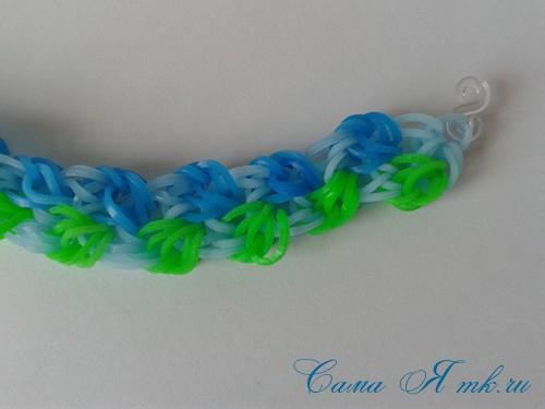 браслет из резиночек бок о бок плетение для начинающих на рогатке 41