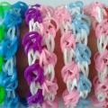 браслет из резиночек бок о бок плетение для начинающих на рогатке 47
