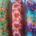 Браслет снейк из резинок на РОГАТКЕ SNAKE bracelet Простой и широкий плетение начинающим 28