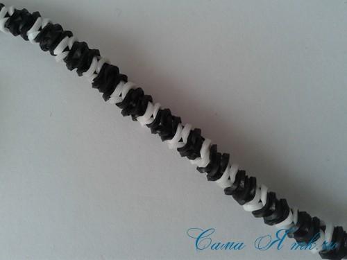 браслет из резинок рыбий хвост наизнанку наоборот плетение для начинающих 34
