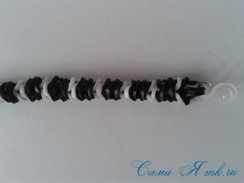 браслет из резинок рыбий хвост наизнанку наоборот плетение для начинающих 40