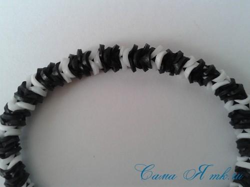 браслет из резинок рыбий хвост наизнанку наоборот плетение для начинающих 43