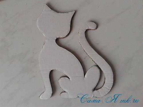 кофейный кот магнит на холодильник из кофейных зерен своими руками 11