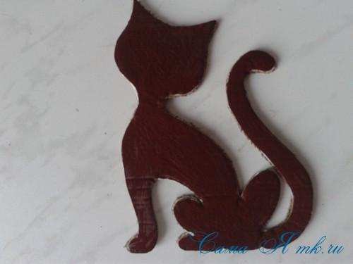 кофейный кот магнит на холодильник из кофейных зерен своими руками 13