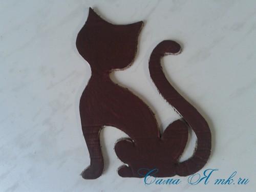 кофейный кот магнит на холодильник из кофейных зерен своими руками 14