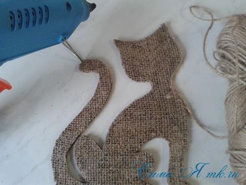 кофейный кот магнит на холодильник из кофейных зерен своими руками 16