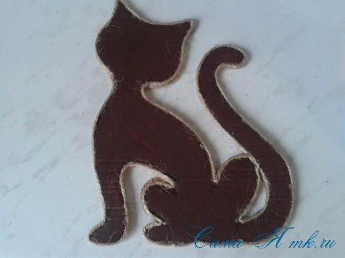 кофейный кот магнит на холодильник из кофейных зерен своими руками 20