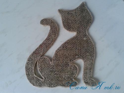 кофейный кот магнит на холодильник из кофейных зерен своими руками 22