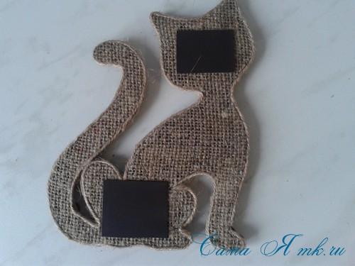 кофейный кот магнит на холодильник из кофейных зерен своими руками 29