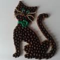 кофейный кот магнит на холодильник из кофейных зерен своими руками 33
