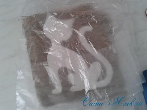 кофейный кот магнит на холодильник из кофейных зерен своими руками 6