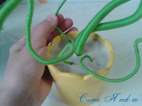 топиарий из палочек веток шпажек птичье гнездо гнездышко пошаговый мк с фото своими руками 11