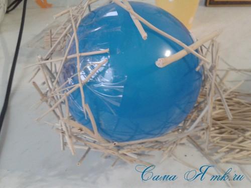 топиарий из палочек веток шпажек птичье гнездо гнездышко пошаговый мк с фото своими руками 20