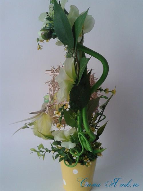 топиарий из палочек веток шпажек птичье гнездо гнездышко пошаговый мк с фото своими руками 30