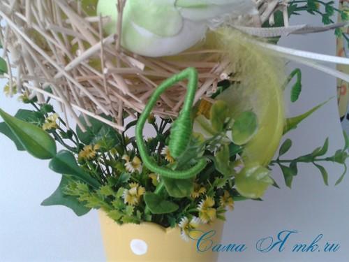 топиарий из палочек веток шпажек птичье гнездо гнездышко пошаговый мк с фото своими руками 31
