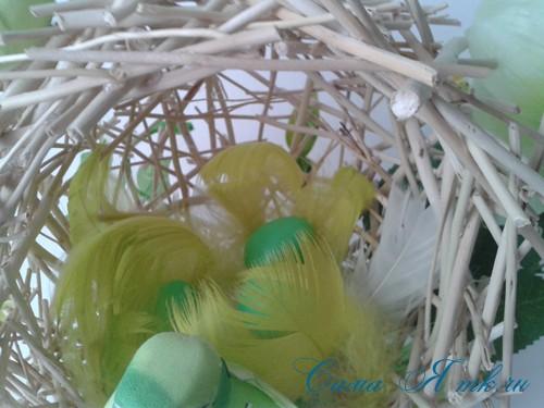 топиарий из палочек веток шпажек птичье гнездо гнездышко пошаговый мк с фото своими руками 32