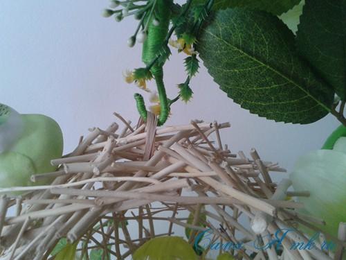 топиарий из палочек веток шпажек птичье гнездо гнездышко пошаговый мк с фото своими руками 334