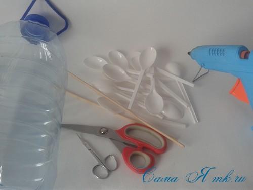 кормушка для птиц из пластиковой 5 пятилитровой бутылки как сделать своими руками 1