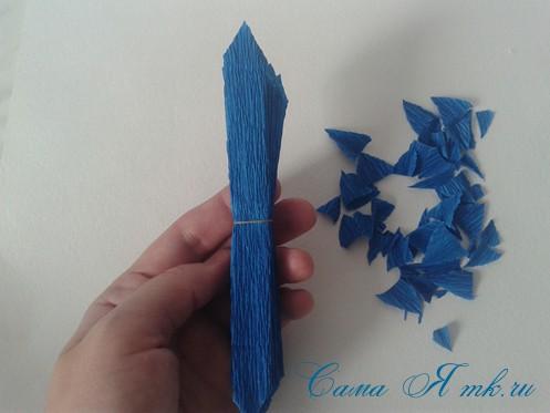 объемные ёлочки из гофрированной бумаги без конуса 10