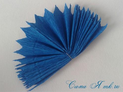 объемные ёлочки из гофрированной бумаги без конуса 12