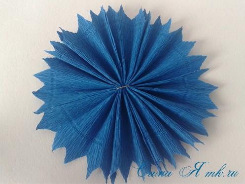 объемные ёлочки из гофрированной бумаги без конуса 14