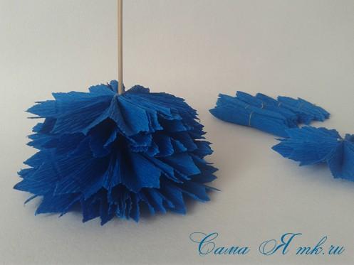 объемные ёлочки из гофрированной бумаги без конуса 15