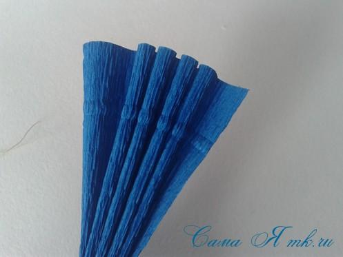 объемные ёлочки из гофрированной бумаги без конуса 4