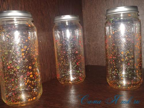 светящиеся неоновые банки баночки для новогоднего декора своими руками в домашних условиях 10