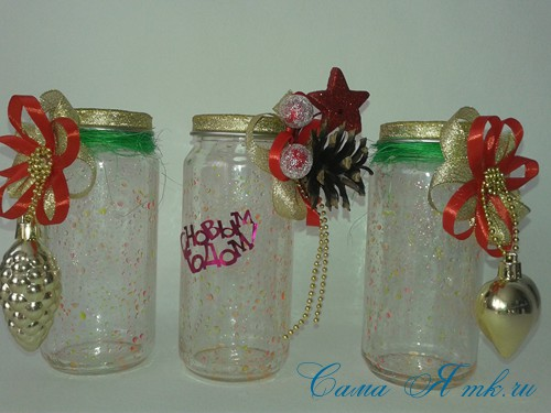 светящиеся неоновые банки баночки для новогоднего декора своими руками в домашних условиях 11