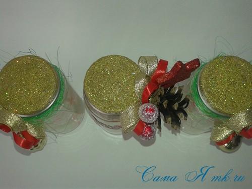 светящиеся неоновые банки баночки для новогоднего декора своими руками в домашних условиях 12